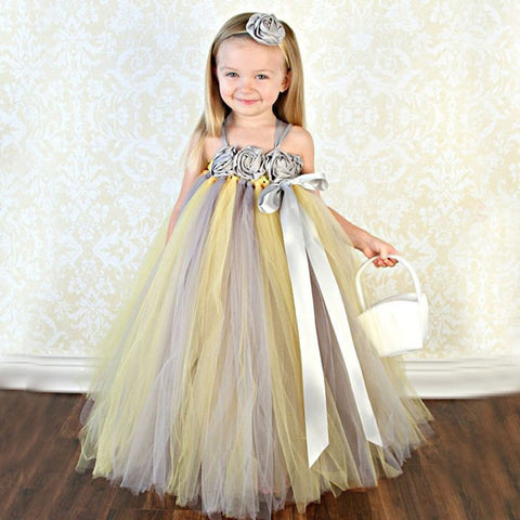 Belle of the Ball Gown - Yellow & Grey