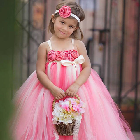 Belle of the Ball Gown - Pink Coral & Ivory