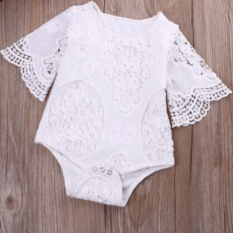 Little Rosey Lace Romper