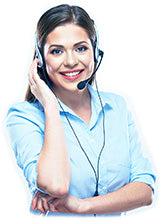 Call Center Woman Standing By