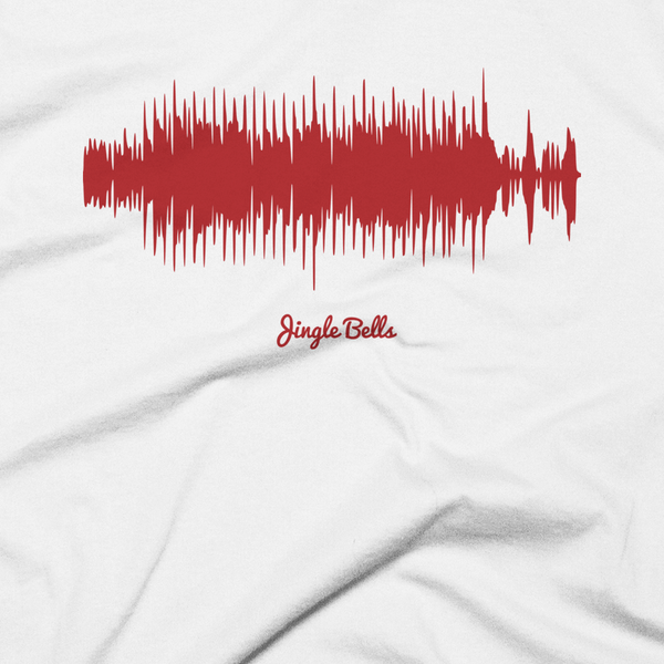 Close-up of Jingle Bells Waveform (White Christmas T-Shirt)