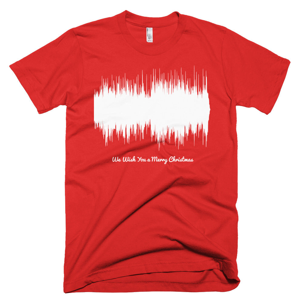 We Wish You a Merry Christmas Waveform (Red Christmas T-Shirt)