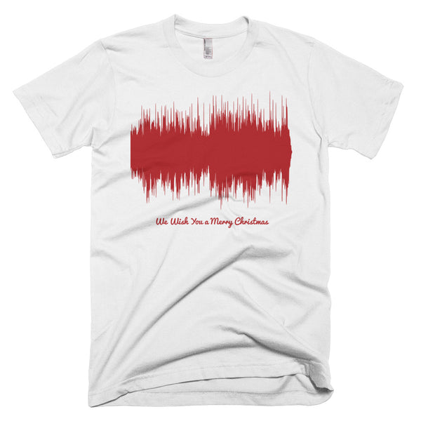 We Wish You a Merry Christmas Waveform (White Christmas T-Shirt)