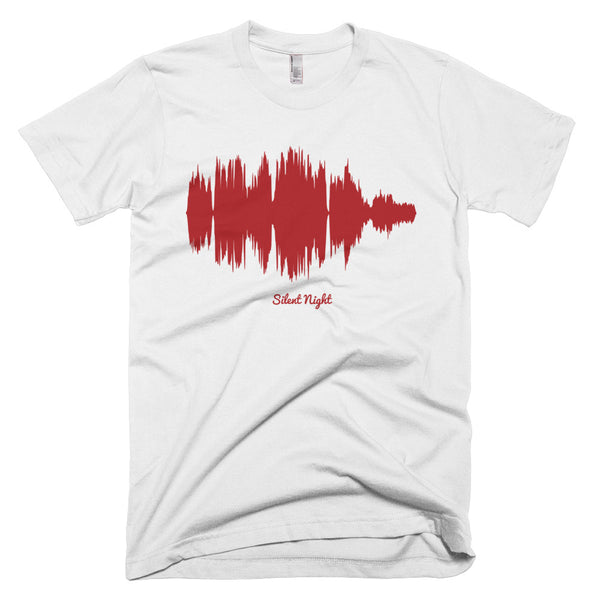 Silent Night Waveform (White Christmas T-Shirt)