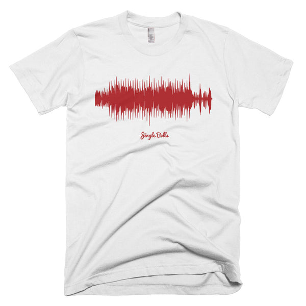 Jingle Bells Waveform (White Christmas T-Shirt)