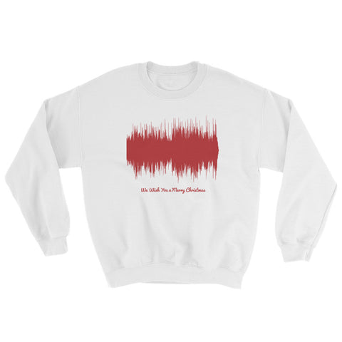 We Wish You a Merry Christmas Waveform (White Christmas Sweater)