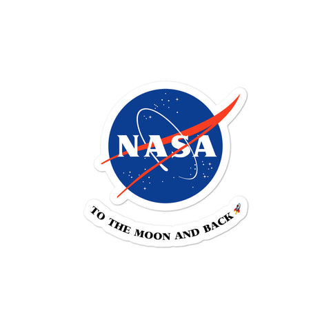 NASA Sticker - To the Moon and Back