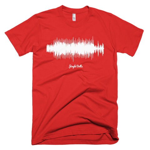Jingle Bells Waveform (Red Christmas T-Shirt)