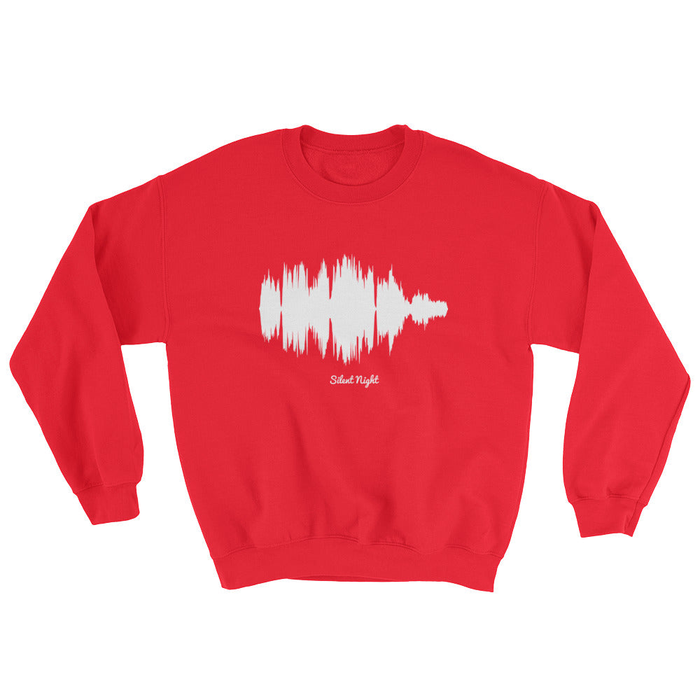 Silent Night Waveform (Red Christmas Sweater)