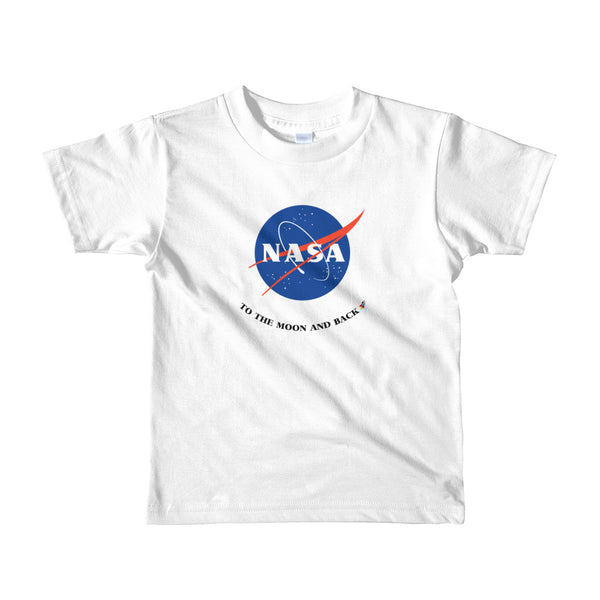 White NASA To the Moon and Back Kids T-Shirt