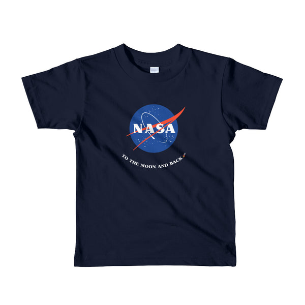 Navy NASA To the Moon and Back Kids T-Shirt