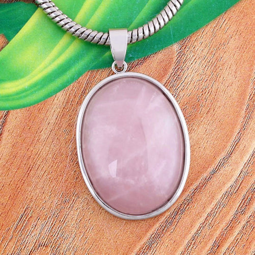 Collier de Quartz Rose Ovale