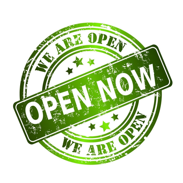 We're now open!!!