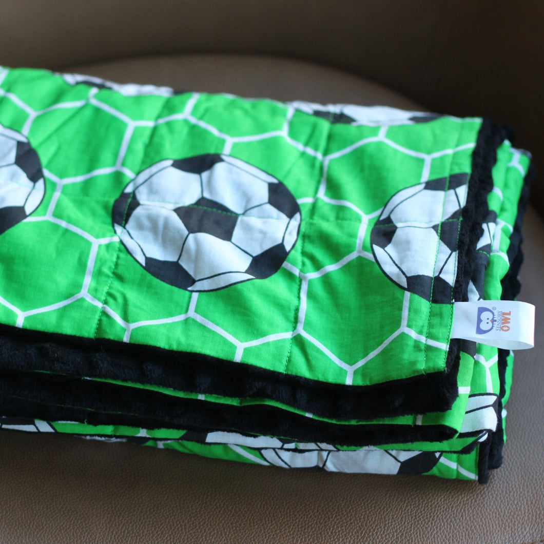 football pattern weighted blanket