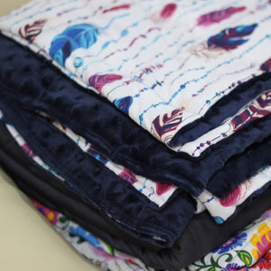 FEATHERS MINKY WEIGHTED BLANKET | SENSORY BLANKET