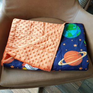GALAXY MINKY WEIGHTED BLANKET | SENSORY BLANKET