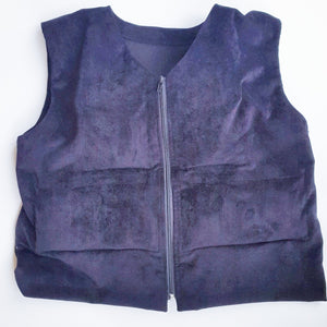 navy blue weighted therapy vest
