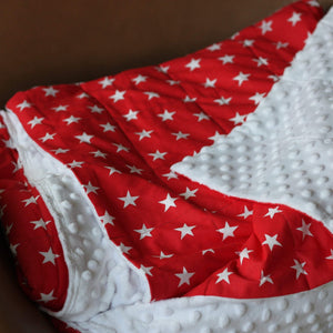 RED stars weighted blanket