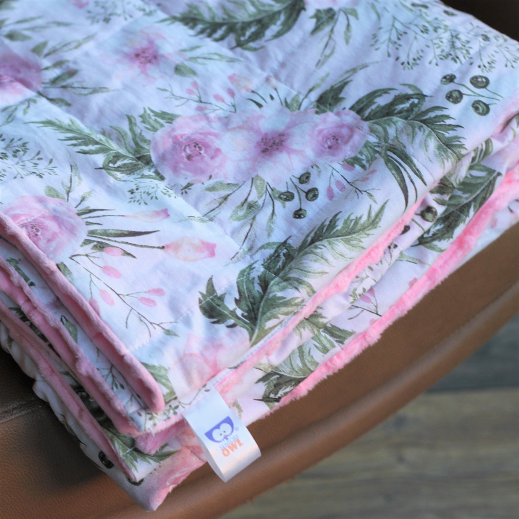 SECRET GARDEN MINKY WEIGHTED BLANKET | SENSORY BLANKET