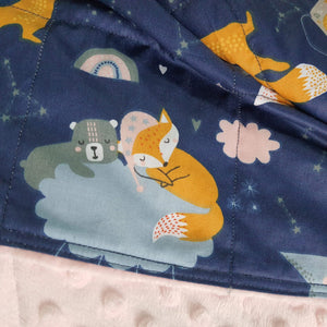 SLEEPING FOXES MINKY WEIGHTED BLANKET