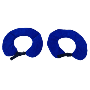 blue weighted collars with black clip by sensory owl