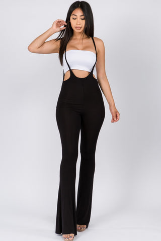 Black Suspender Jumpsuit