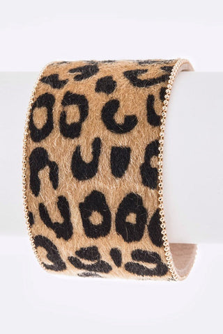 Faux Leather Animal Printed Magnetic Bracelet