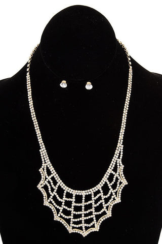 Spiderweb Bib Necklace Set