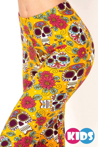 Kid's Sugar Skull Leggings