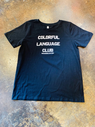 Plus Size Colorful Language Club Top