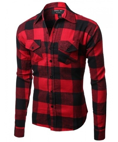 Red & Black Flannel Button Down