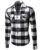 Black & White Flannel Button Down