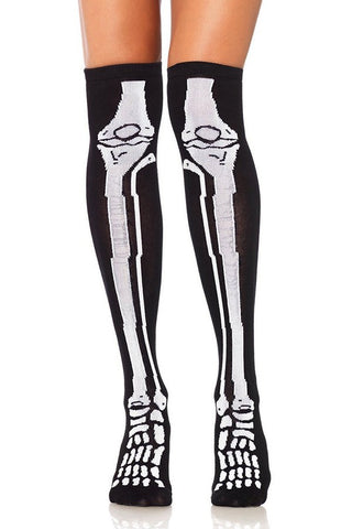Skeleton Over the Knee/Thigh High Socks
