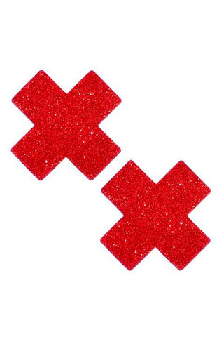 Sparkly Red or Black Glitter Pasties
