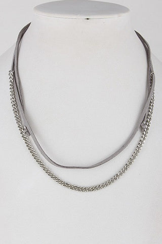 Chain and Grey Necklace