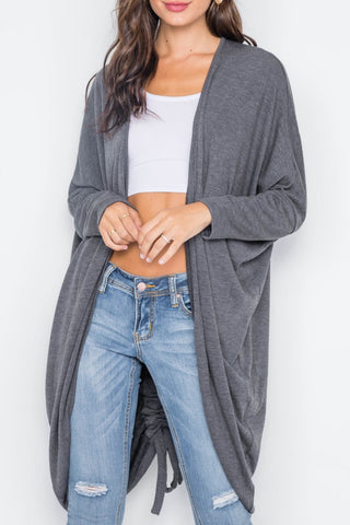 Dolman Sleeve Circle Hem Duster