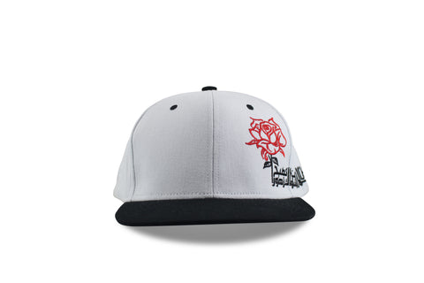 Thorns & Roses-Red on 2 Tone White/Black Snapback