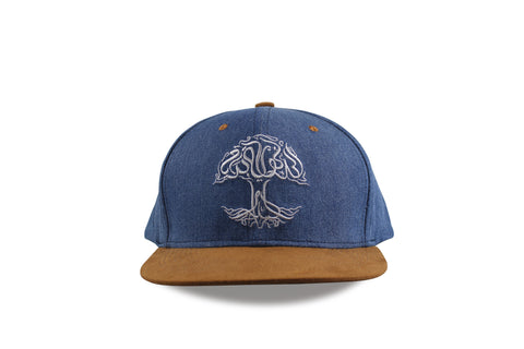 Tree of Life, Jeans on Brown Suede Snapback