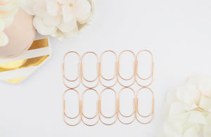 Wide Paper Clips in Rose Gold