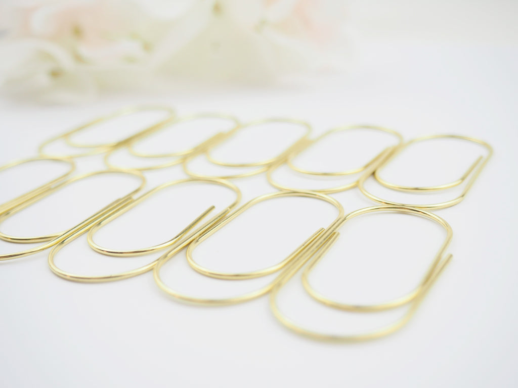 Wide Paper Clips in Gold