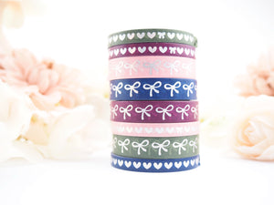 Autumn Berries Bow and Heart Washi Collection - The Pink Room Co Exclusive Original
