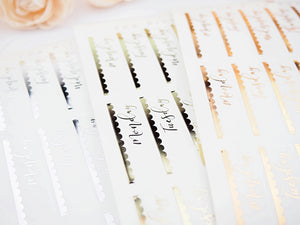 Foiled Clear Date Header Overlay
