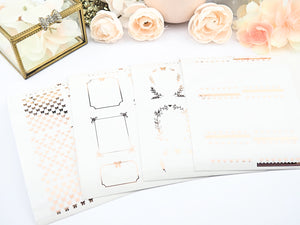 Foiled Clear Fullbox and Half Box Overlay Stickers
