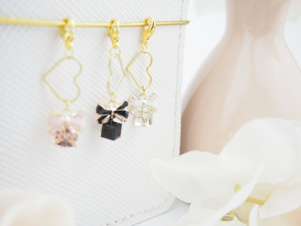 Bow Jewel Charm in White - The Pink Room Co Original