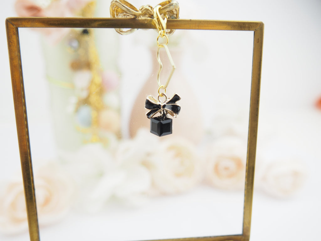 Bow Jewel Charm in Black - The Pink Room Co Original