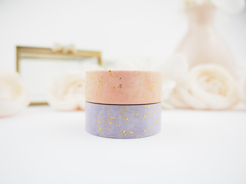 Gold Speckle WaterColour Washi Collection