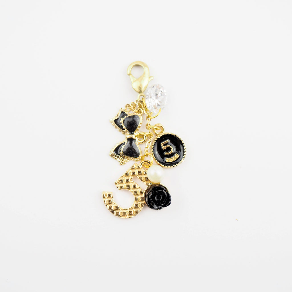 Coco5 in black Planner Charm