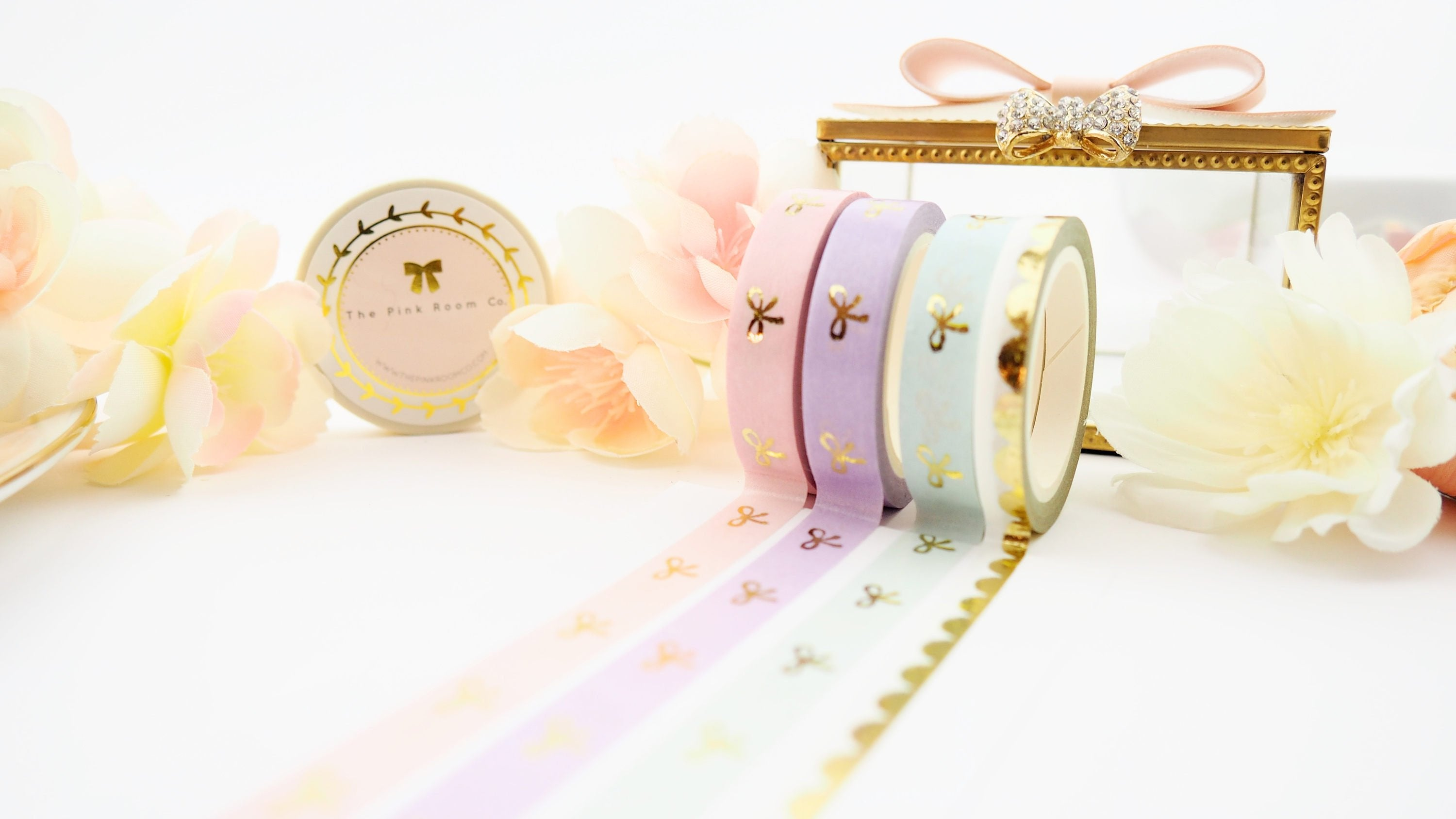 Gold Scallop Vintage Style Washi Tape - The Pink Room Co Original