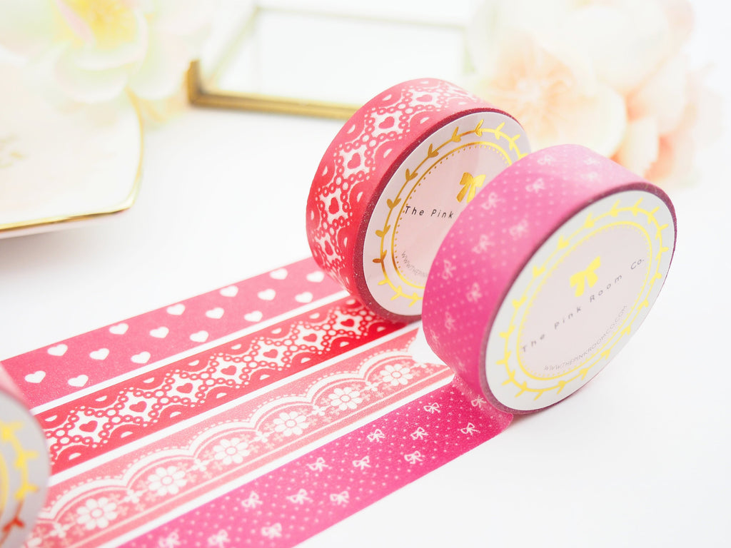With All My Hearts Washi Tape Collection  -  from ThePinkRoomCo