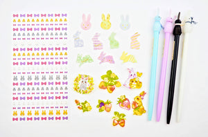 Bunny Love sticker and Pen collection  -  from ThePinkRoomCo